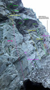 Rock Climbing Photo: Scallywaggers is between the start of Death of a M...
