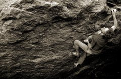 Rock Climbing Photo: The last crux move of European Human Being.