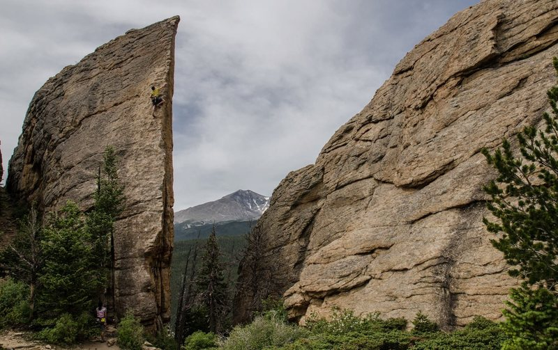 Rock Climbing Photo: Edge of Time... Amazing climb with a great view of...