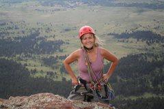 Rock Climbing Photo: Brenda on the Maiden summit, June 2013.