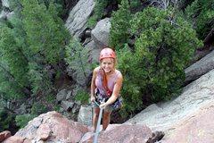 Rock Climbing Photo: Brenda starts 2nd Maiden rappel.