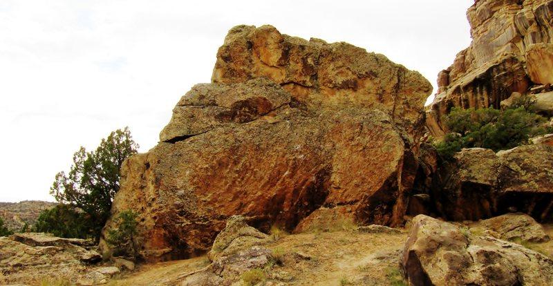 North-facing slab of Anchor Block.