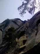 "Rock Climbing Photo: Heard this route is named ""Yours"" a 5.7 ..."