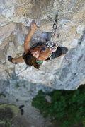 Rock Climbing Photo: Clip pre-crux.
