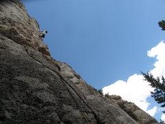Rock Climbing Photo: Maryne crushing.
