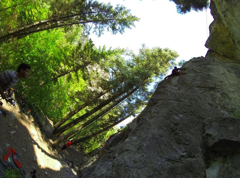 Rock Climbing Photo: Climber on route