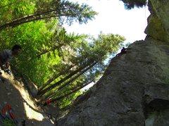 Rock Climbing Photo: Climber on route