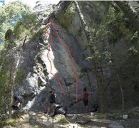 Rock Climbing Photo: Left Line is 5.12 Mission Control, Right line is 5...