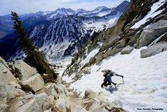 Rock Climbing Photo: Climbing the Hypodermic Needle on North Thunder in...