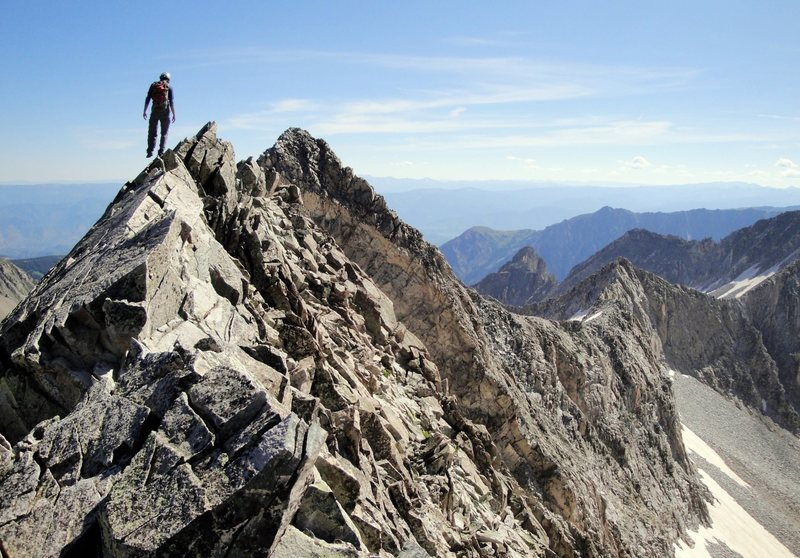 Traversing the Knife Edge on Capitol Peak.