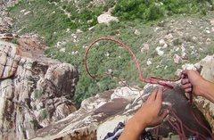Rock Climbing Photo: Rope whippin'