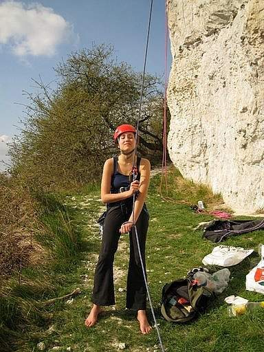 climbing north of paris on the chalk cliffs on the seine