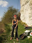 Rock Climbing Photo: climbing north of paris on the chalk cliffs on the...