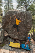 "Rock Climbing Photo: The ""Trash Can Boulders"" at the base of ..."