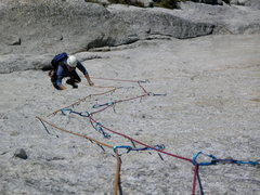 Rock Climbing Photo: Rob Andrews following the main pitch of Shagadelic...