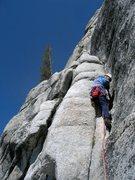 Rock Climbing Photo: Rob Andrews on pitch 1 of Shagadelic, September 20...