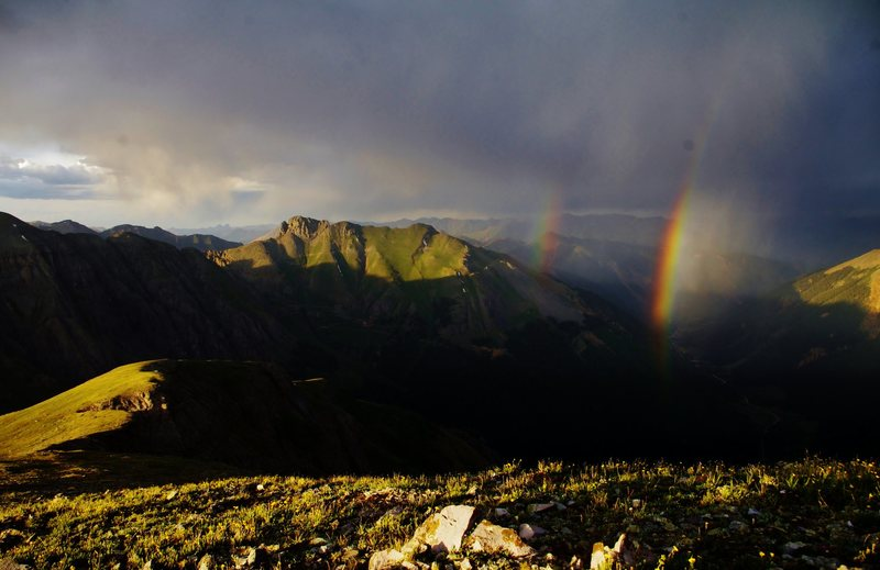 Double rainbows just outside of Silverton.