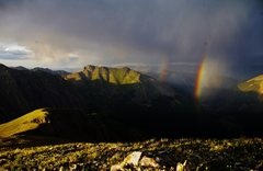 Rock Climbing Photo: Double rainbows just outside of Silverton.