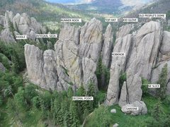 Rock Climbing Photo: Summits north of Outer Outlet.