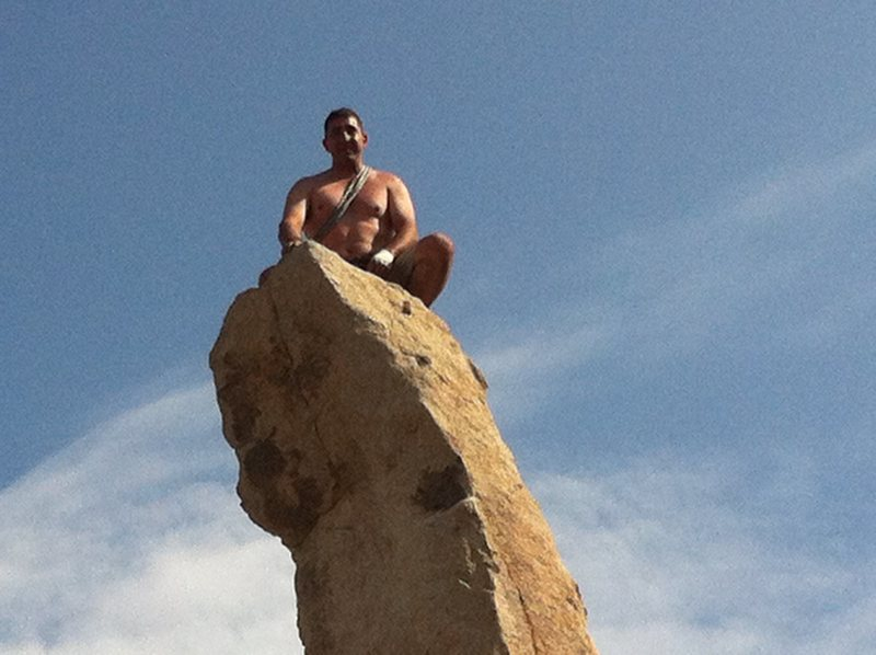 Rock Climbing Photo: On top of Hercules Finger (Aguille de Joshua Tree)