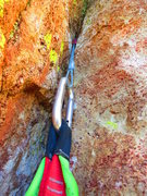 Rock Climbing Photo: one of three? nut placements on the route - Steins...