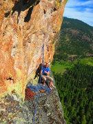 Rock Climbing Photo: Tim belaying me on P3