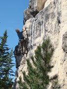 Rock Climbing Photo: Jerry battles Cyclops, 5.11a