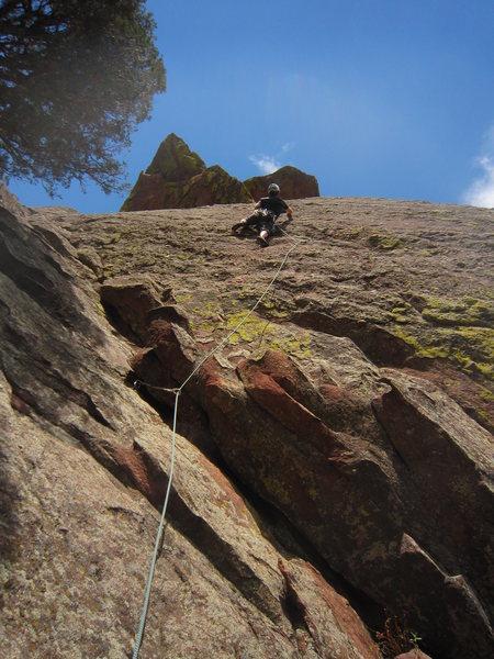 Rock Climbing Photo: Alan Doak climbs Megasaurus.