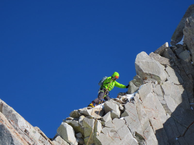 Rock Climbing Photo: Pfeifferhorn via North Ridge