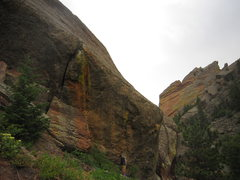 Rock Climbing Photo: Old School (5.10) from the ground - it is much ste...