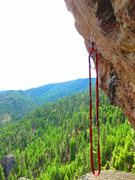 Rock Climbing Photo: the high reach to start P4 - Northeast Face, Stein...