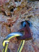 Rock Climbing Photo: sketch stuff on P5 - Northeast Face, Steins Pillar
