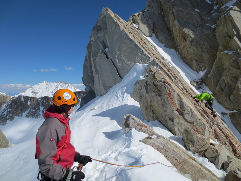 Rock Climbing Photo: Slab pitch on the North Ridge.