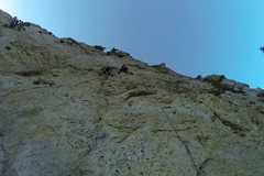Rock Climbing Photo: The routes are very close together in this area