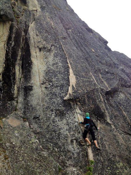Adrienne Kentner climbing Festooned 5.9+