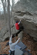"Rock Climbing Photo: Dan Yagmin on the 2nd Ascent of ""Ghost Face L..."