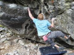 Rock Climbing Photo: The area classic- V6ish?
