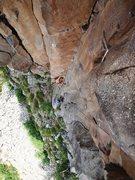 Rock Climbing Photo: Casey climbs the beautiful corner on Iron Potato