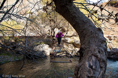 "Rock Climbing Photo: ""Bridge"" crossing the river to get to th..."