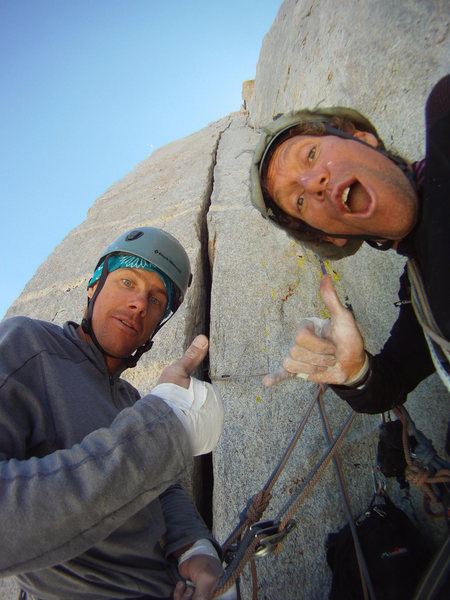 Psyched for the long wide crack pitch!