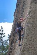 Rock Climbing Photo: Joanne on Bread Line
