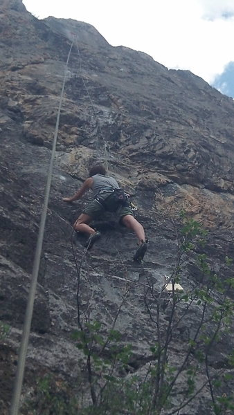 Rock Climbing Photo: Sarah Mattison on the first ascent of Daddy Didn't...