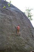 Rock Climbing Photo: Bouldering the lower portion of Nubbin Face.  Rout...