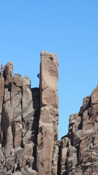 Rock Climbing Photo: On lead!