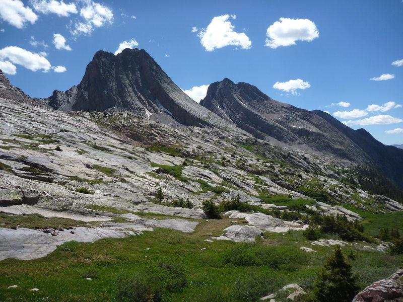 Rock Climbing Photo: Vestal & Arrow Peaks