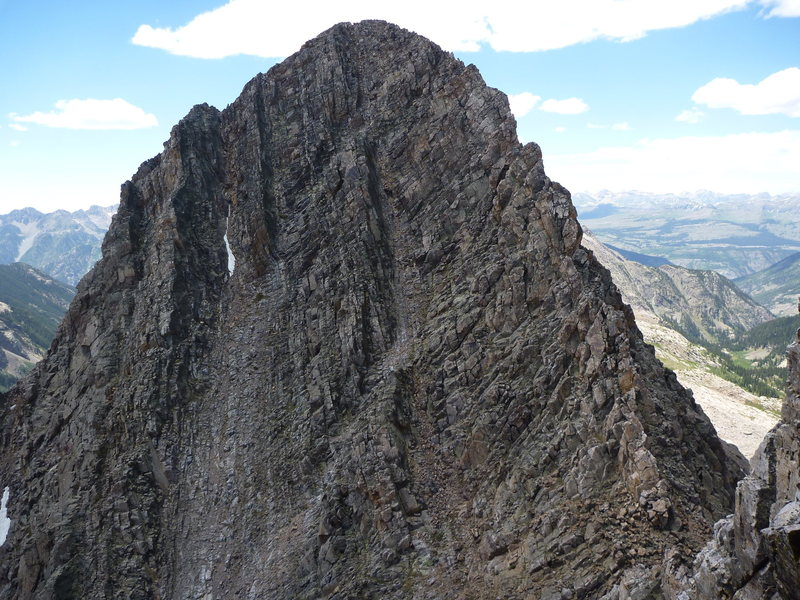 Rock Climbing Photo: East Face of Middle Trinity Peak
