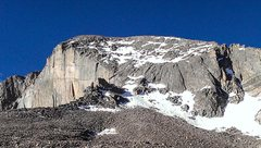 Rock Climbing Photo: View of the North Face on Long's Peak (Cable Route...