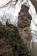 Rock Climbing Photo: climbing the chimney