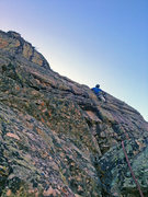 Rock Climbing Photo: Great face climbing just before the $ pitch, which...