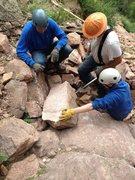 Rock Climbing Photo: Eldorado trail work